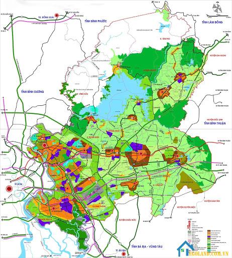 Bản đồ Đồng Nai về giao thông