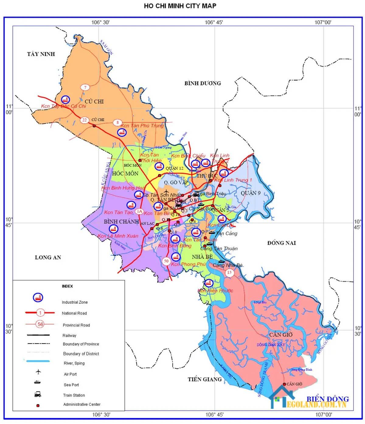 Bản đồ Hồ Chí Minh về giao thông