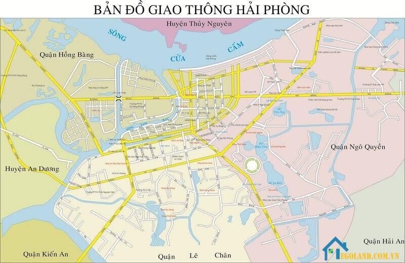 Bản đồ Hải Phòng về giao thông