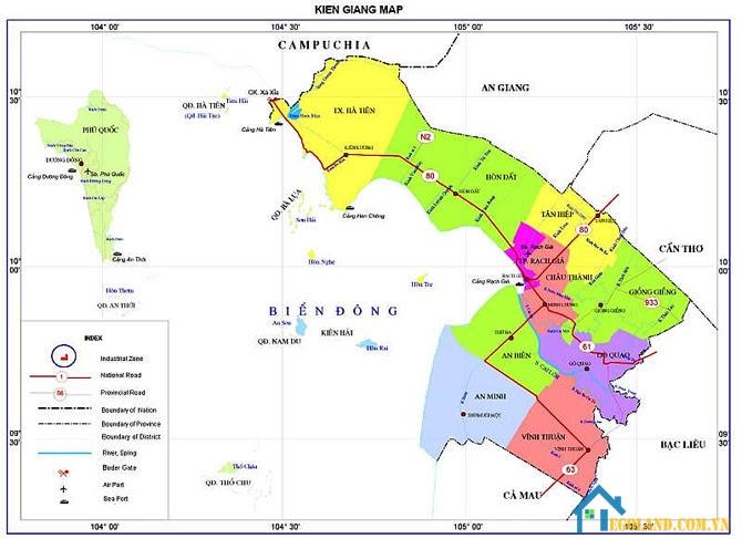 Bản đồ Kiên Giang về giao thông