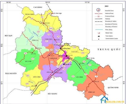 Bản đồ Lạng Sơn về giao thông