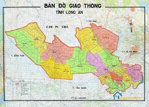 Bản đồ Long An về giao thông
