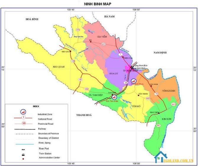 Bản đồ Ninh Bình về giao thông