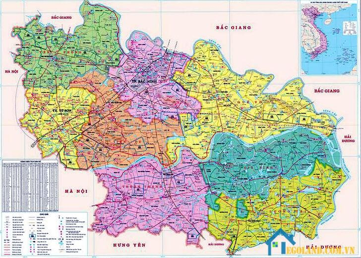 Bản đồ Bắc Ninh về hành chính
