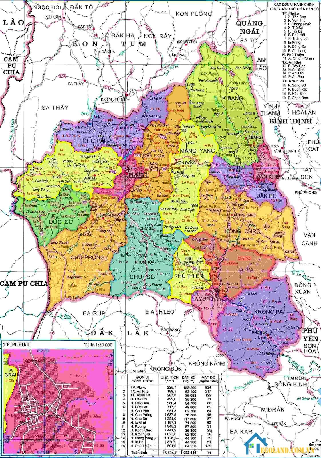 Bản đồ Hà Giang về hành chính