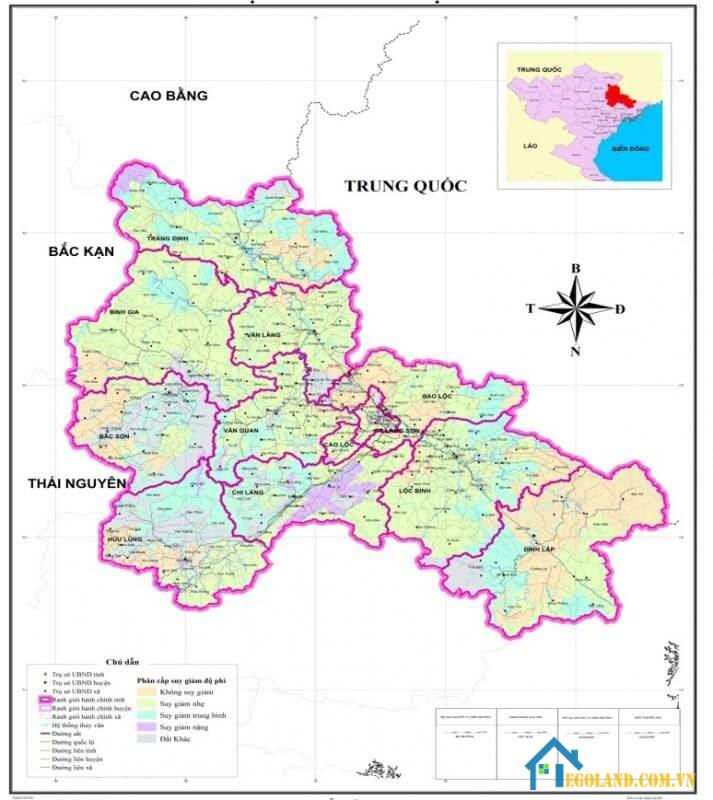 Bản đồ Lạng Sơn về hành chính