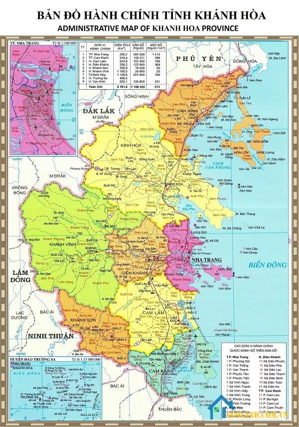 Bản đồ Khánh Hòa