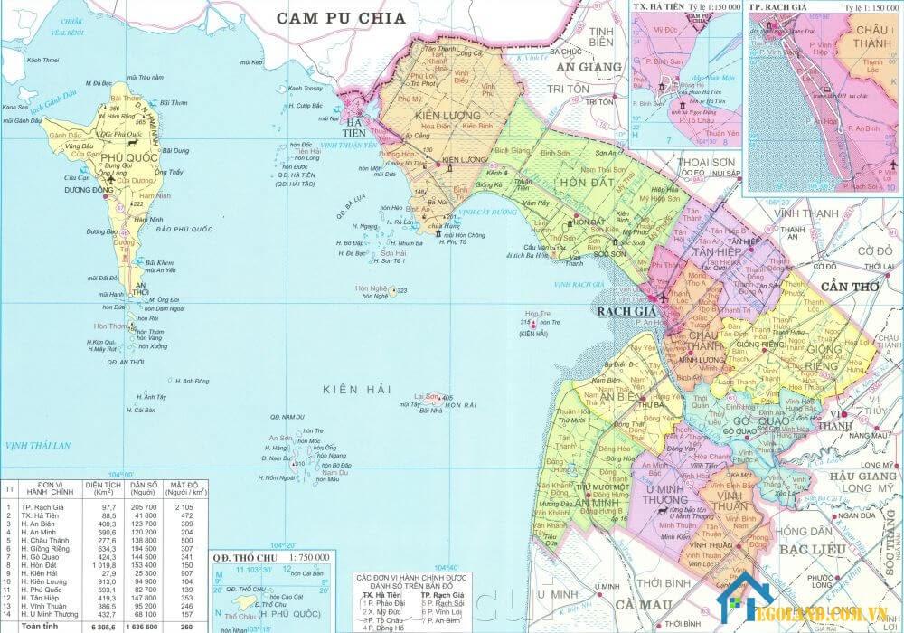 Bản đồ Kiên Giang