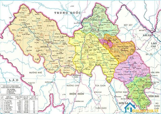Bản đồ Lai Châu