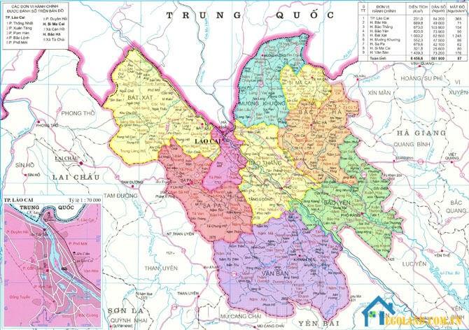 Bản đồ Lào Cai