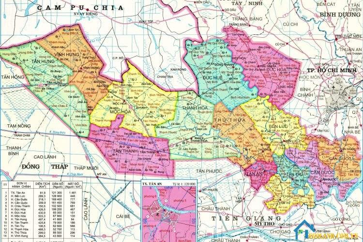 Bản đồ Long An