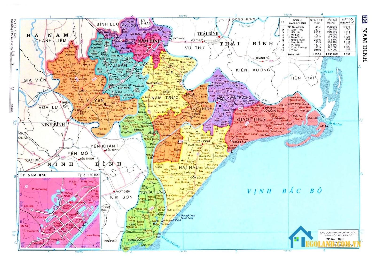 Bản đồ Nam Định