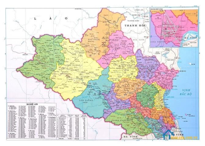 Bản đồ Nghệ An