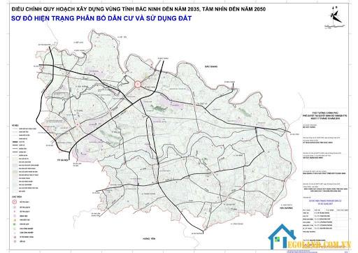 Bản đồ Bắc Ninh về quy hoạch sử dụng đất