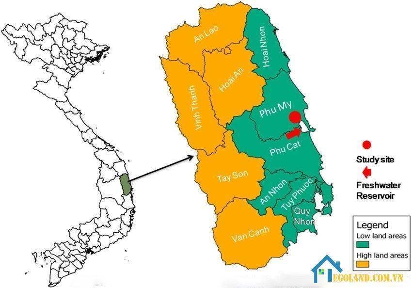 Bản đồ Bình Định về quy hoạch sử dụng đất