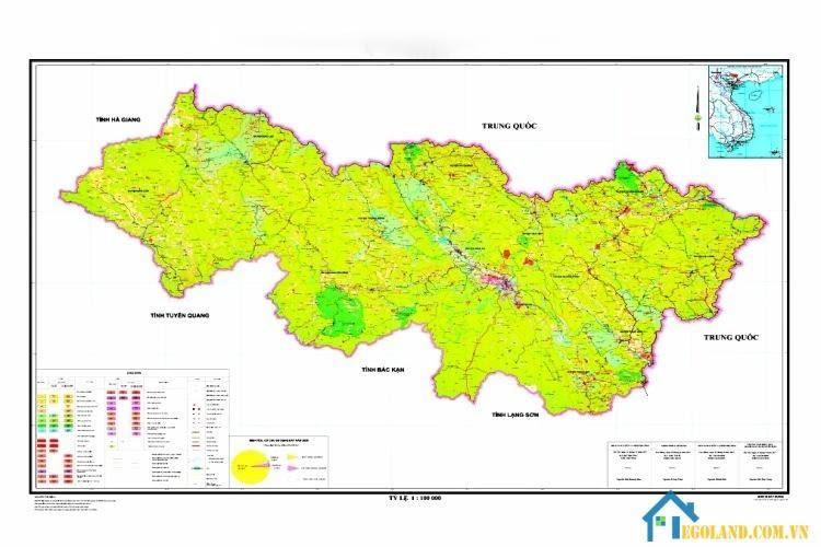 Bản đồ Cao Bằng về quy hoạch và sử dụng đất
