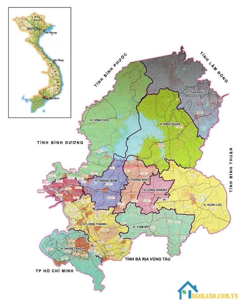 Bản đồ Đồng Nai về quy hoạch và sử dụng đất