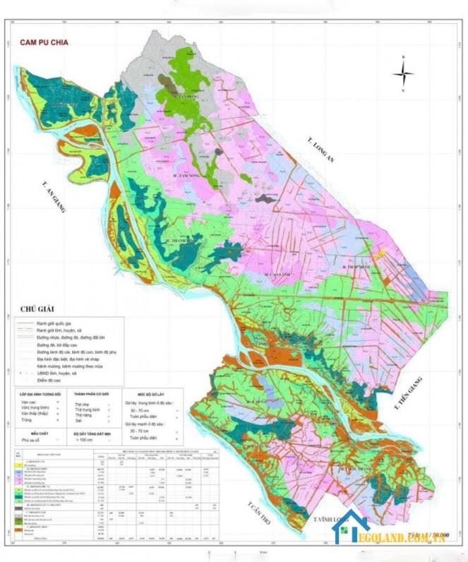 Bản đồ Đồng Tháp về quy hoạch và sử dụng đất