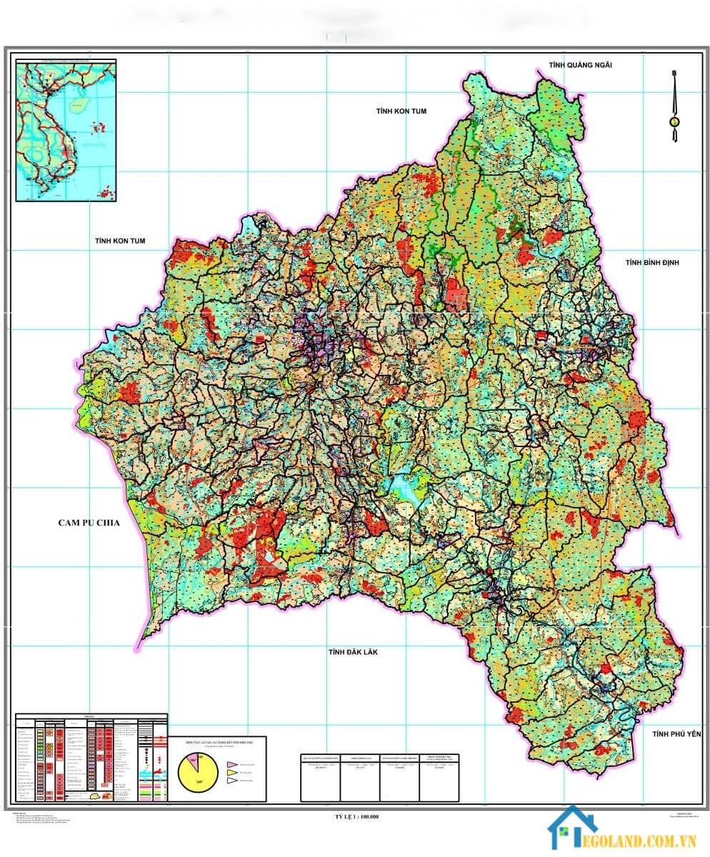 Bản đồ Gia Lai về quy hạch và sử dụng đất