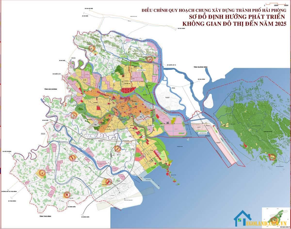 Bản đồ Hải Phòng về quy hoạch và sử dụng đất