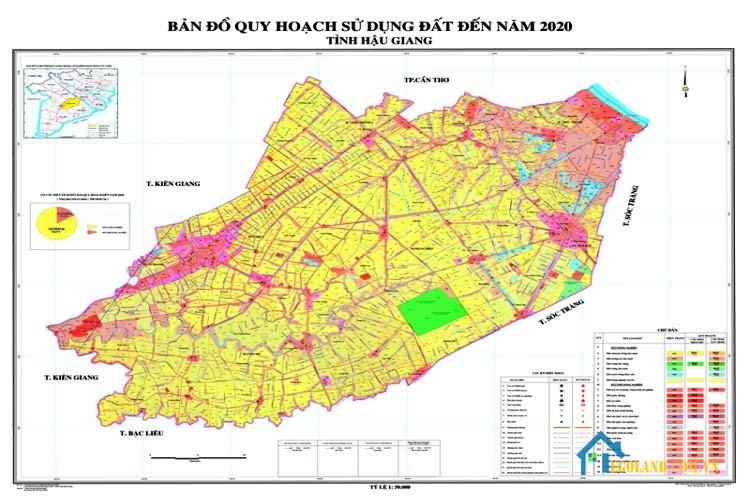 Bản đồ Hậu Giang về quy hoạch và sử dụng đất