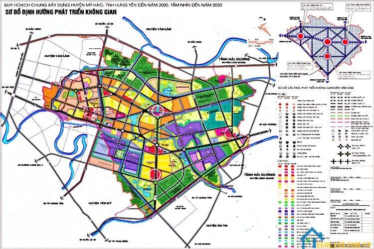 Bản đồ Hưng Yên về quy hoạch và sử dụng đất