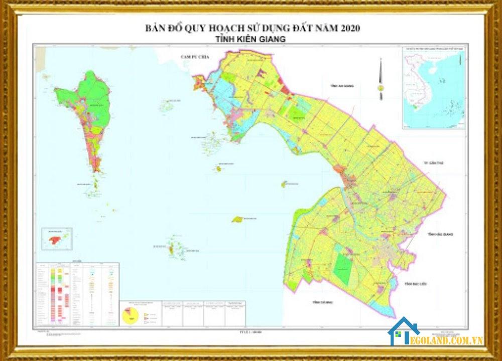 Bản đồ Kiên Giang về quy hoạch và sử dụng đất