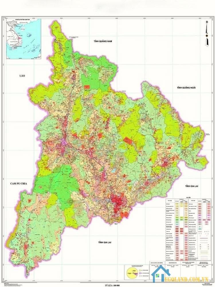 bản đồ Kon Tum về quy hoạch và sử dụng đất