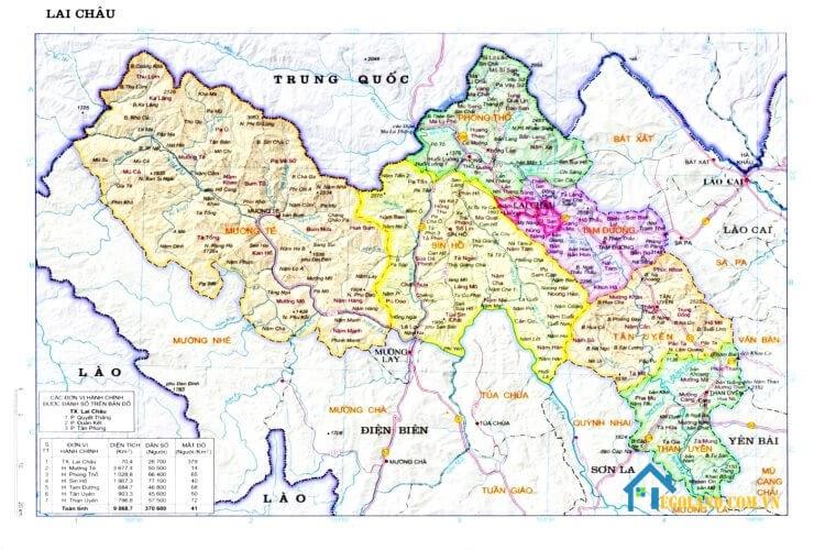 Bản đồ Lai Châu về quy hoạch và sử dụng đất