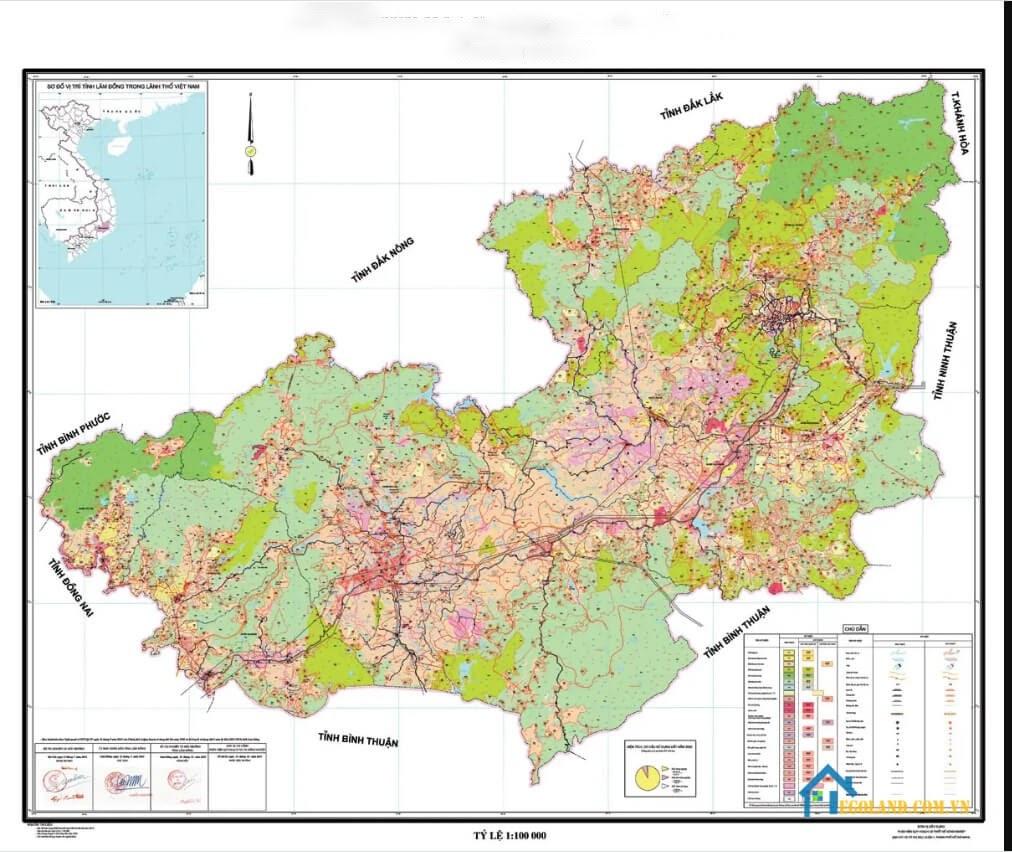 Bản đồ Lâm Đồng về quy hoạch và sử dụng đất