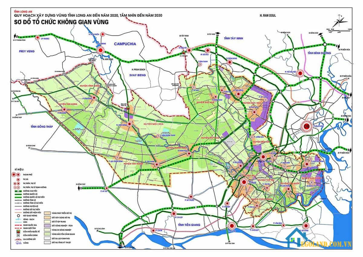 Bản đồ quy hoạch sử dụng đất tỉnh Long An