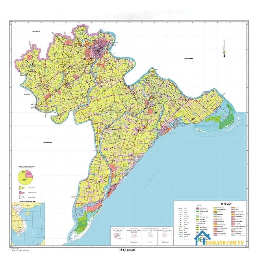 Bản đồ Nam Định về quy hoạch và sử dụng đất