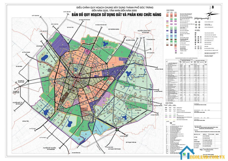 Bản đồ Sóc Trăng về quy hoạch và sử dụng đất