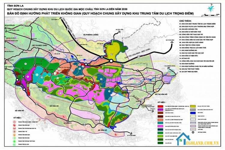Bản đồ Sơn La về quy hoạch và sử dụng đất