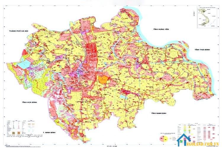 Bản đồ Hà Nam về quy hoach và sử dụng đất