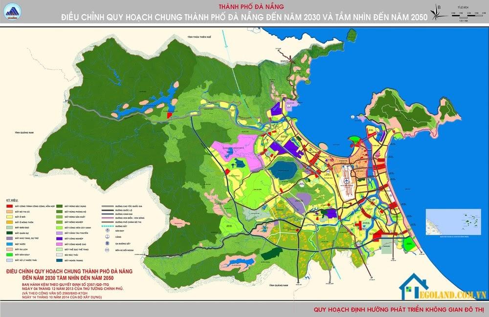 Bản đồ Đà Nẵng về quy hoạch và phát triển đất