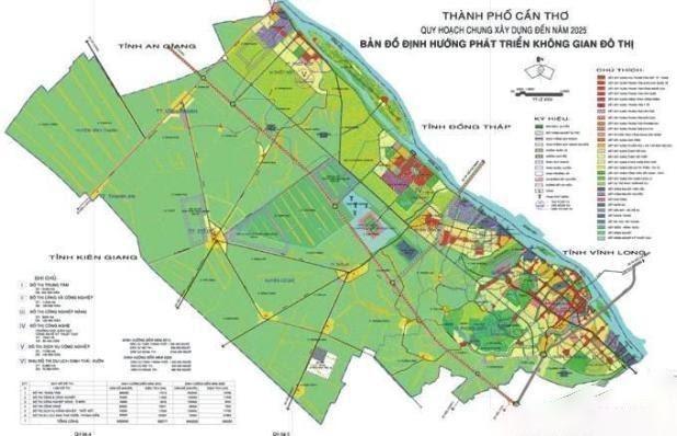 Bản đồ Cần Thơ về quy hoạch và sử dụng đất