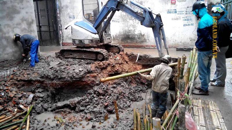 Biện pháp để thi công việc đào hố móng