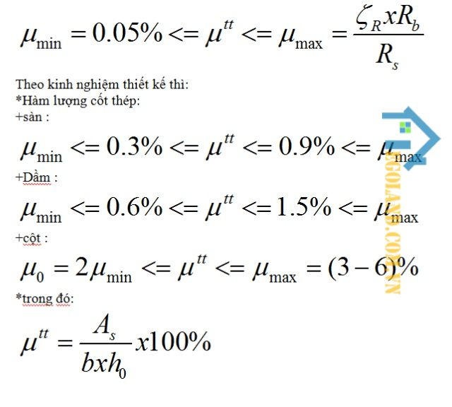 Cách tính hàm lượng thép trong bê tông 1m3 đầy đủ và chuẩn nhất