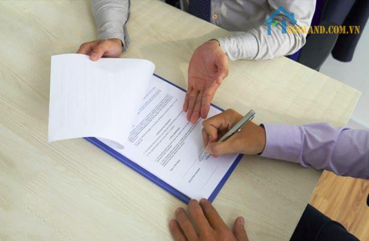 Hợp đồng đặt cọc mua bán nhà đất viết tay?