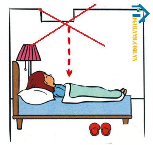 Kiêng kỵ kê giường đối diện với góc tường nhọn hay các đồ nhọn