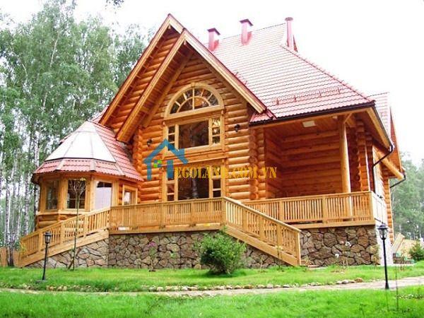 Nhà gỗ 3 gian đẹp hiện đại