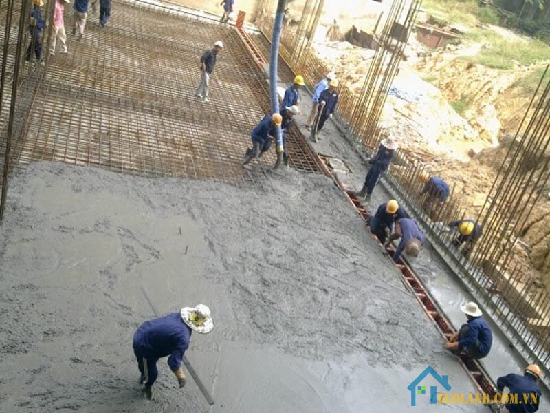 1 khối bê tông đổ được bao nhiêu mét vuông ?