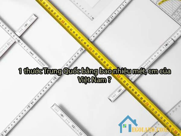 1 thước Trung Quốc đổi ra mét là bao nhiêu?