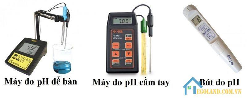 Có đa dạng các loại máy đo ph