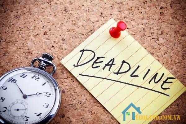 Đặt ra kế hoạch trong Deadline là điều rất quan trọng