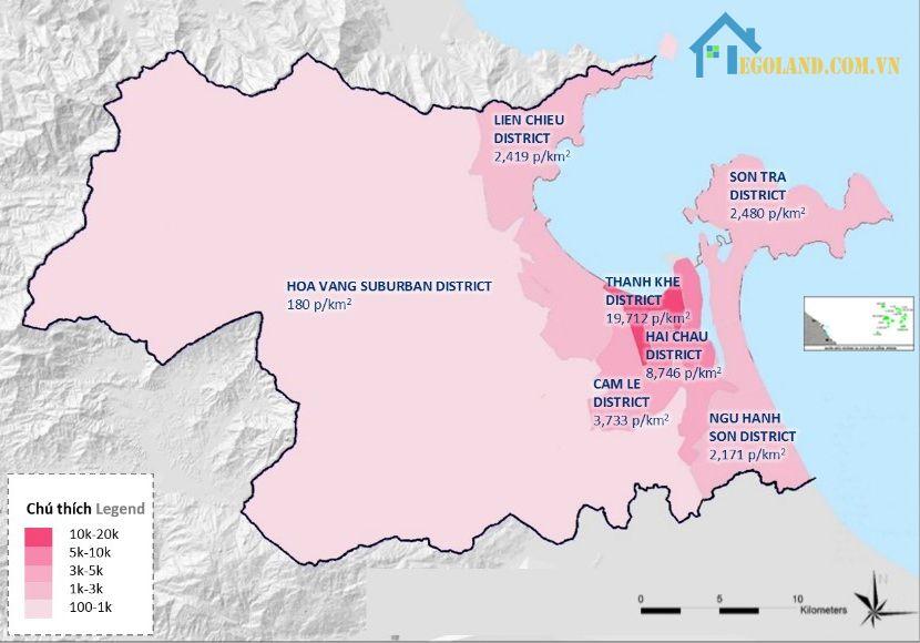 Để tính toán được mật độ dân số thì bạn cần phải cập nhật số liệu cụ thể về số cư dân ở khu vực đó gần đây