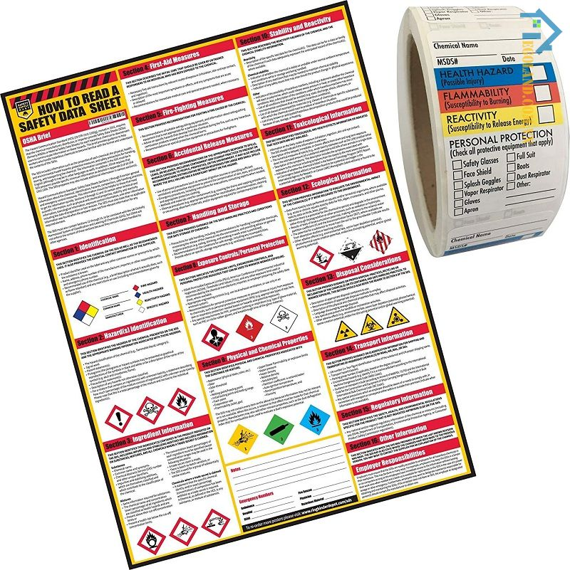 MSDS được biết đến là bảng chỉ dẫn an toàn hóa chất