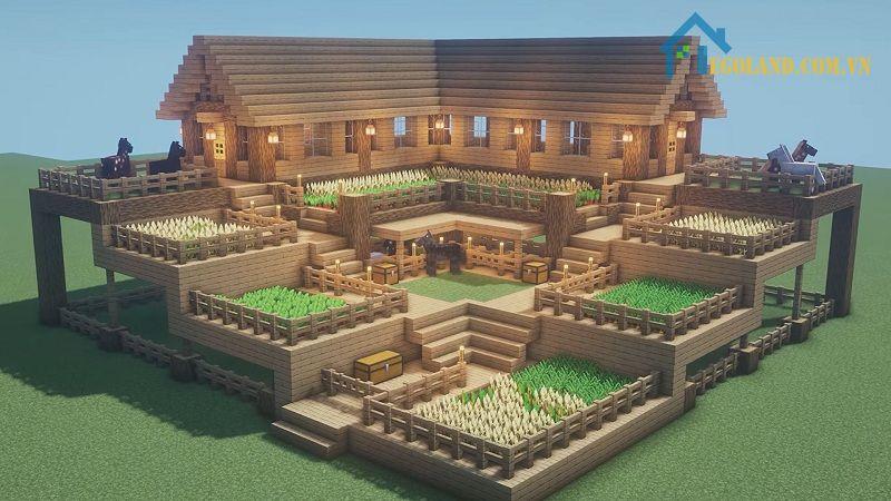 Mẫu xây nhà trong Minecraft 11