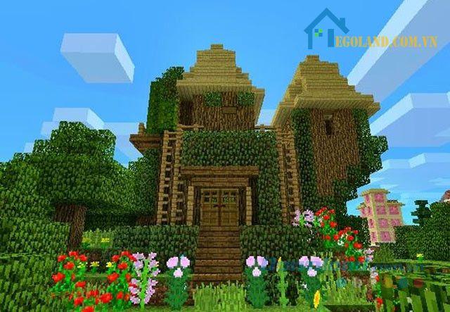 Mẫu xây nhà trong Minecraft 12